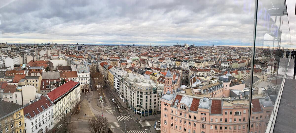 Haus des Meeres: Ausblick auf Wien